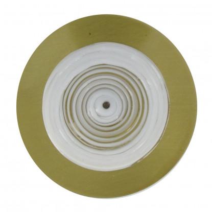 Broche Disque en Laiton Pâte de Verre