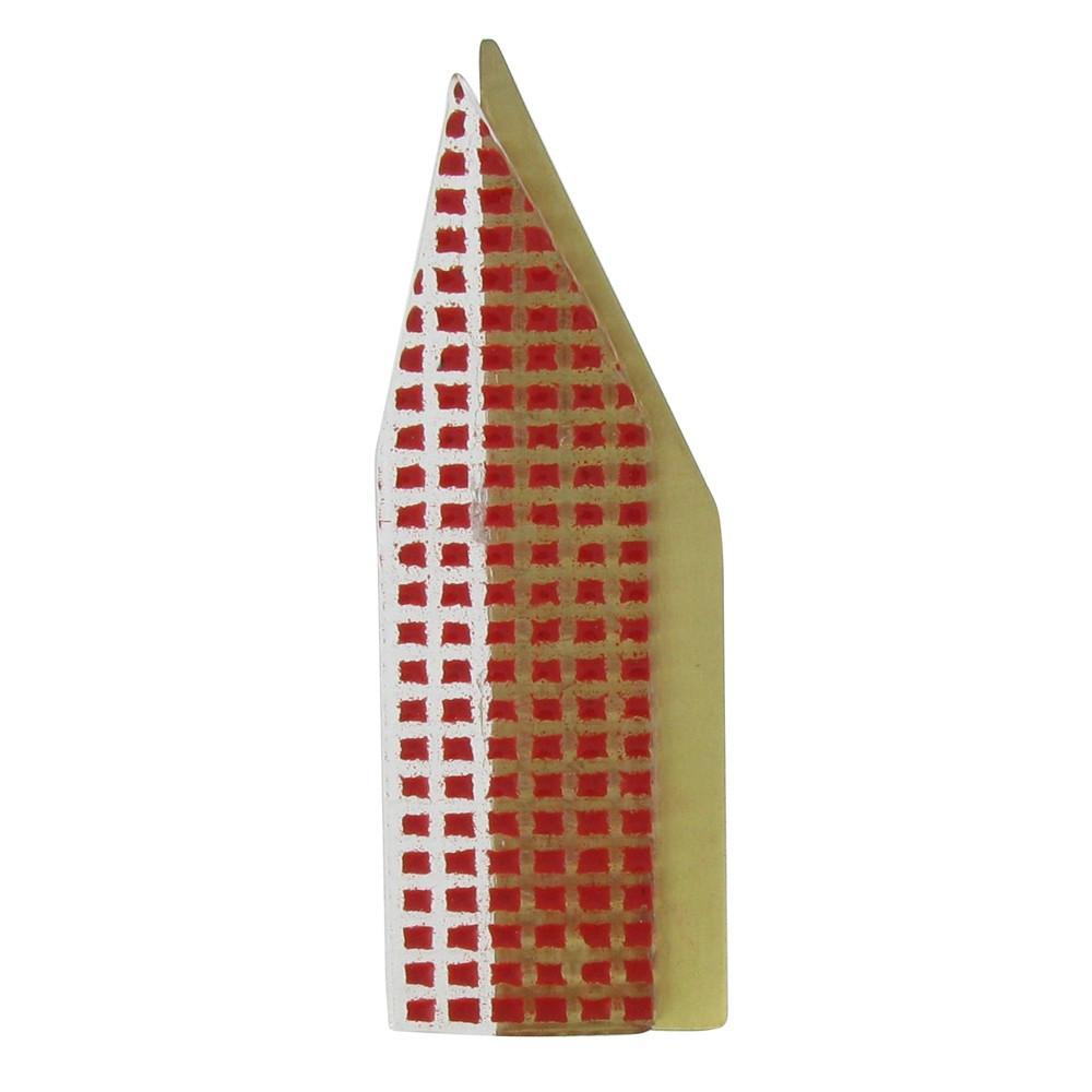 broche new york laiton et p te de verre rouge. Black Bedroom Furniture Sets. Home Design Ideas