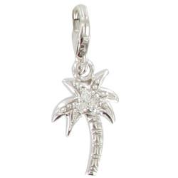 Charms Bracelet Argent Palmier Tropical