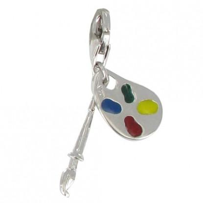 Charms Bracelet Palette du Peintre - Argent 925 et Email