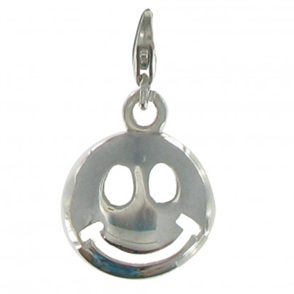 Charms Argent Smiley