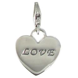 Charms Coeur Love en Argent