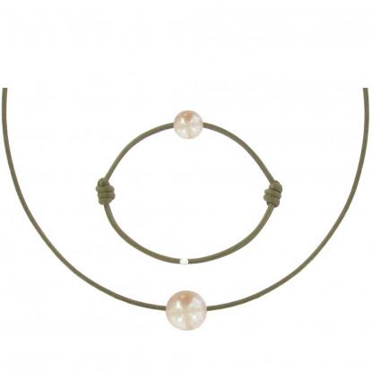 Set Collier et Bracelet Lien La Perle Rose des Poulettes - Classics