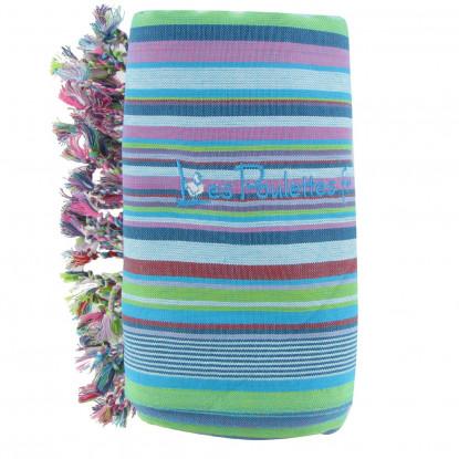 Kikoy Serviette Plage Coton Eponge Couleur Rayé Turquoise