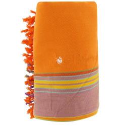 Kikoy Serviette Plage Coton Eponge Couleur Orange