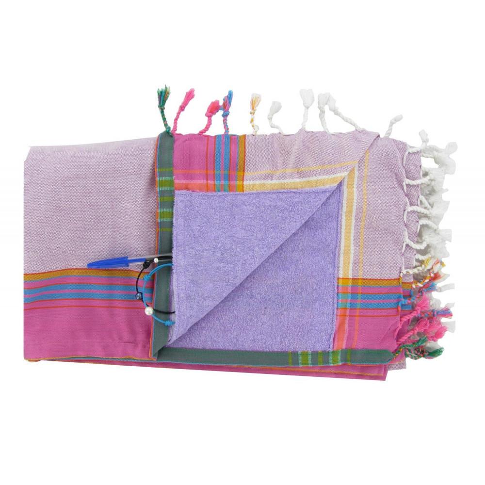 kikoy serviette plage coton eponge couleur parme. Black Bedroom Furniture Sets. Home Design Ideas