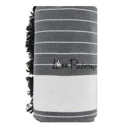 Kikoy Serviette Plage Coton Eponge Couleur Rayé Gris