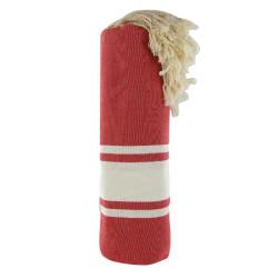 Fouta Drap Plage et Hammam Coton Couleur Rouge