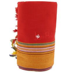 Kikoy Serviette Plage Coton Couleur Rouge Eponge Rouge