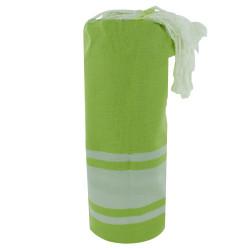 Fouta Drap Plage et Hammam Coton Couleur Vert Citron