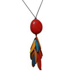 Collier Tagua Perle et Lamelles Multicolores - Classics