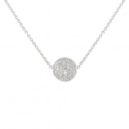 Collier Argent Bille de Strass