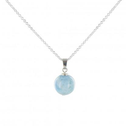 Collier Perle de Larimar et Chaine Argent