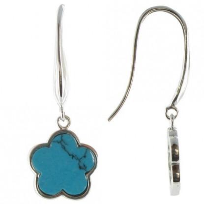 Boucles d'Oreilles Chance Argent et Turquoise