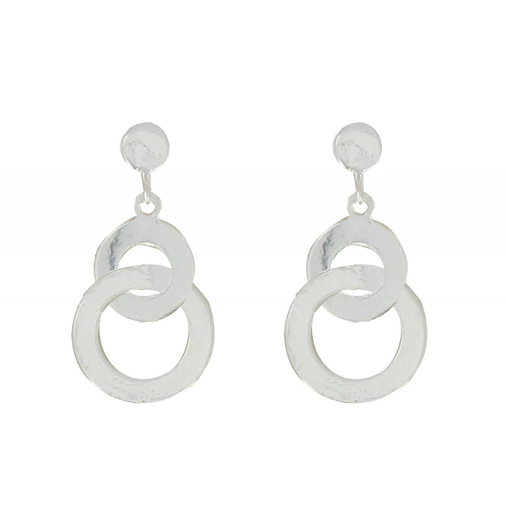 boucles d oreilles double anneau bijoux la mode. Black Bedroom Furniture Sets. Home Design Ideas