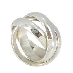 bague argent trois anneaux. Black Bedroom Furniture Sets. Home Design Ideas