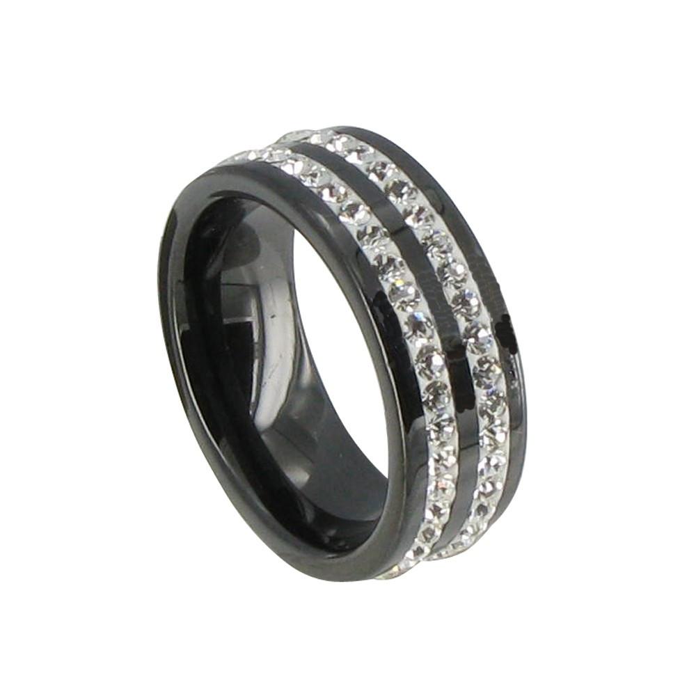 Bague anneau noir