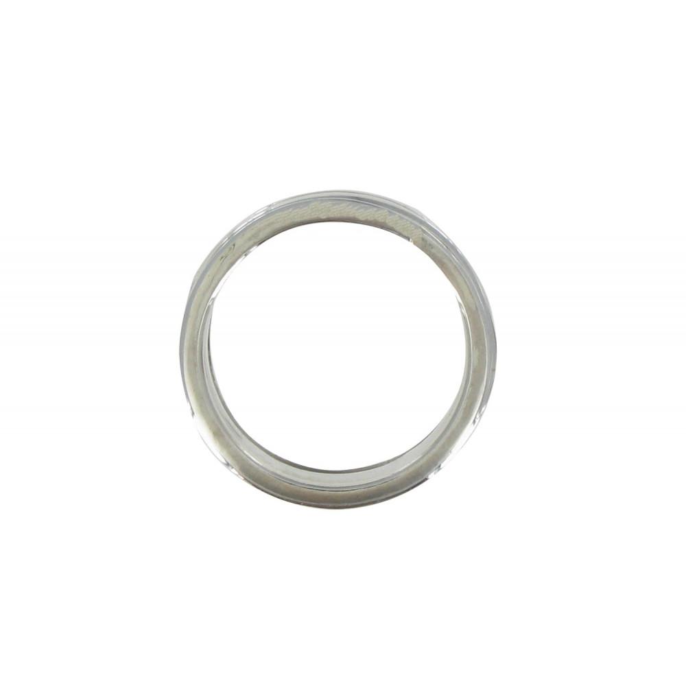 bague argent tube et ses trois anneaux mobiles. Black Bedroom Furniture Sets. Home Design Ideas
