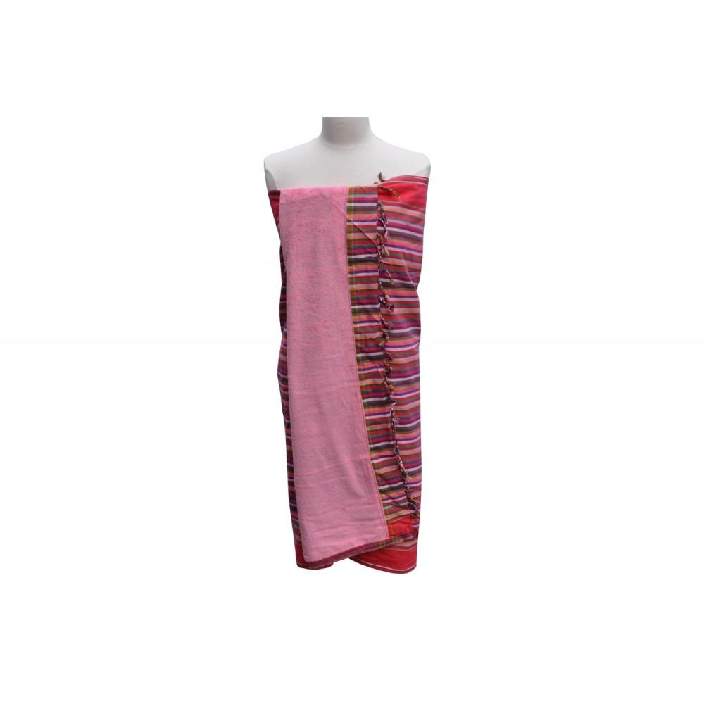 kikoy serviette plage coton couleur ray fuchsia eponge rose. Black Bedroom Furniture Sets. Home Design Ideas