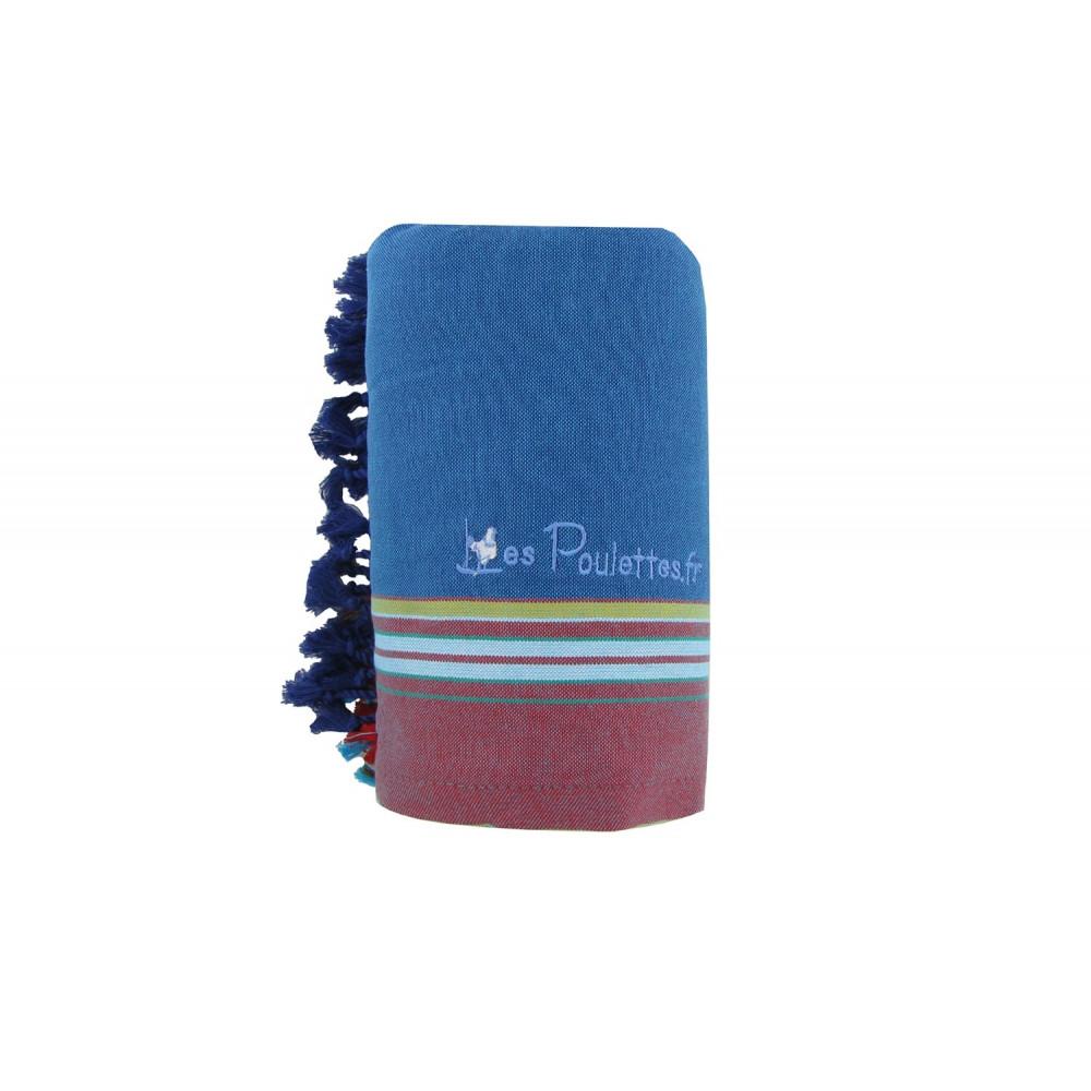 kikoy serviette plage coton couleur bleu p trole eponge marine. Black Bedroom Furniture Sets. Home Design Ideas