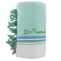 Kikoy Serviette Plage Coton Couleur Vert d'Eau