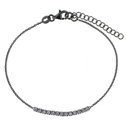 A VE Bracelet Ruthénium et Strass