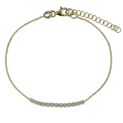 Bracelet Plaqué Or et Strass