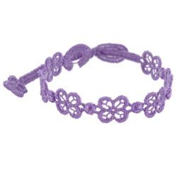 Cruciani Bracelet Dentelle Happy Lilas Intense