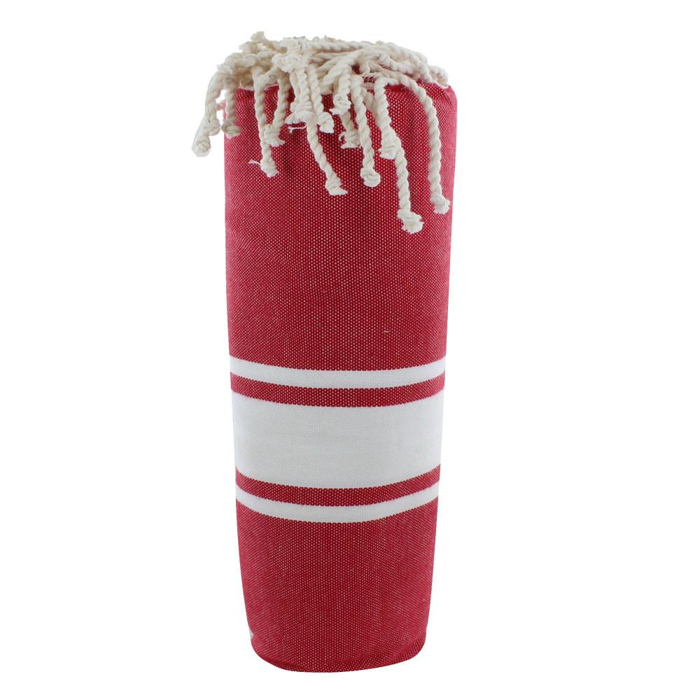 fouta drap plage et hammam coton couleur rouge fonc. Black Bedroom Furniture Sets. Home Design Ideas