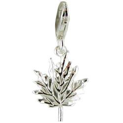 Charms Bracelet Feuille d' Erable Argent 925