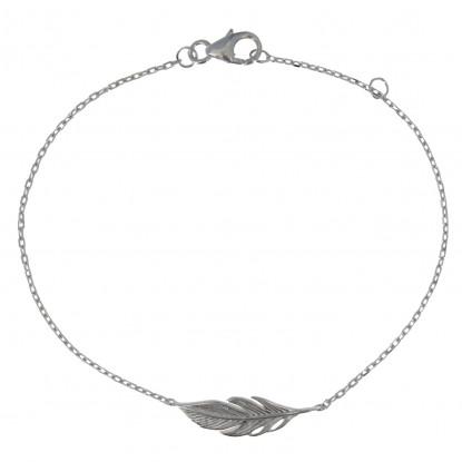 Bracelet Argent Rhodié Petite Plume