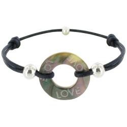 Bracelet Lien Love Les Poulettes Nacre et Argent - Classics