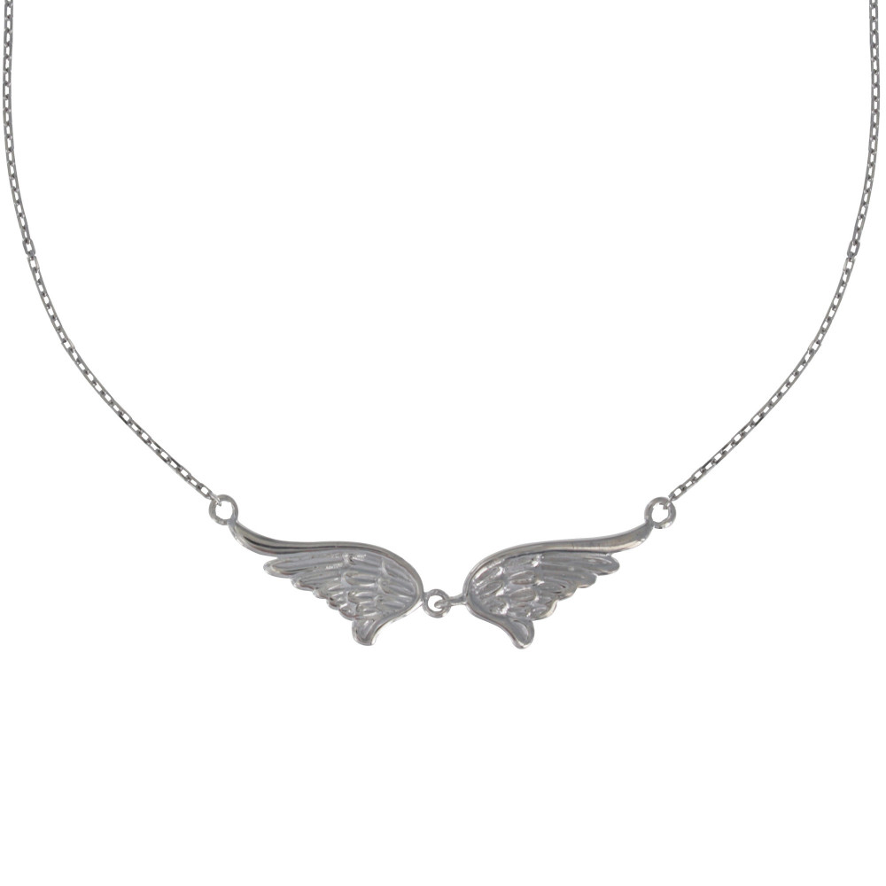 collier argent deux ailes d 39 ange. Black Bedroom Furniture Sets. Home Design Ideas