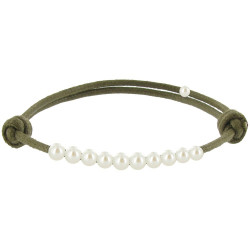 Bracelet Lien Numéro 10 Perle Blanche des Poulettes - Classics