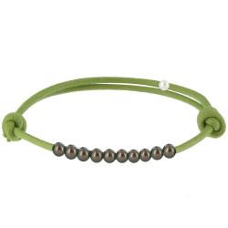 Bracelet Lien Numéro 10 Perle Noire des Poulettes - Colors