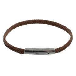 Bracelet Homme Tresse en Coton Marron Clair