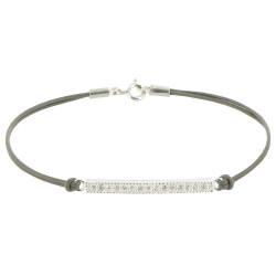 Bracelet Lien Barrette Argent et Strass - Classics