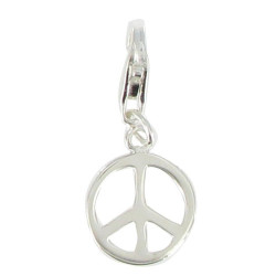 Charms Argent 925 - Médaille Paix - Peace and Love