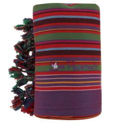 Kikoy Serviette Plage Coton Couleur Violet Rayé Vert Rouge
