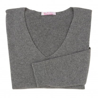 Pull Femme 100% Cachemire Oversize Gris Anthracite