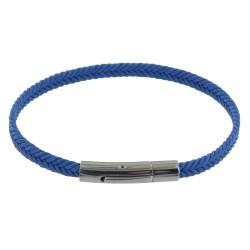 Bracelet Homme Tresse en Coton Bleu