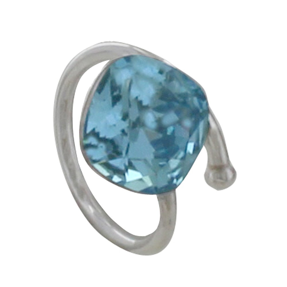 Bijoux Argent Swarovski : Bague argent swarovski bleu ciel