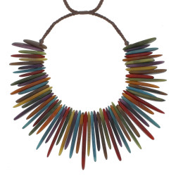 Collier Esplanade en Tagua Multicolore Eté