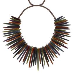 Collier Esplanade en Tagua Multicolore Automne