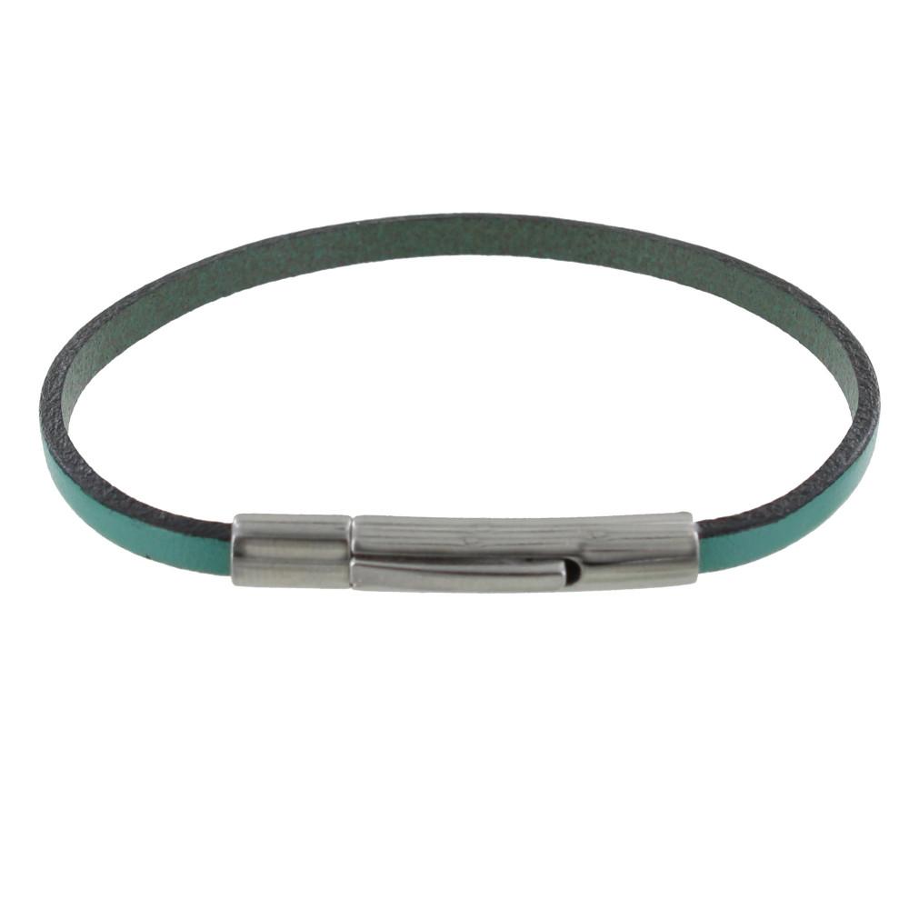 bracelet femme cuir simple fermoir acier inoxydable colors. Black Bedroom Furniture Sets. Home Design Ideas