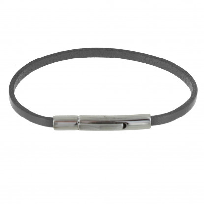 bracelet cuir acier femme