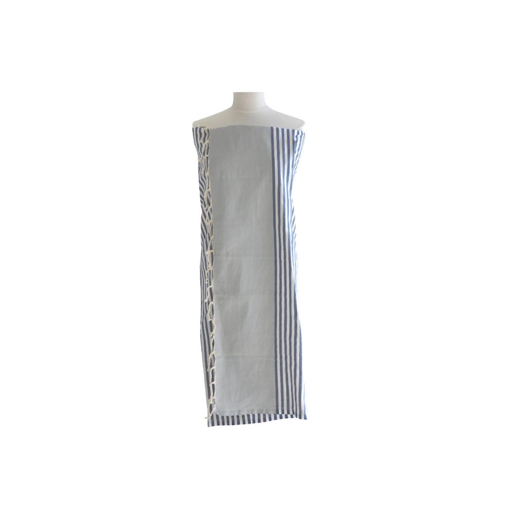 Fouta drap plage et hammam coton couleur gris clair ray for Couleur gris bleu clair