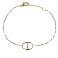 Bracelet Plaqué Or Anneau Marin