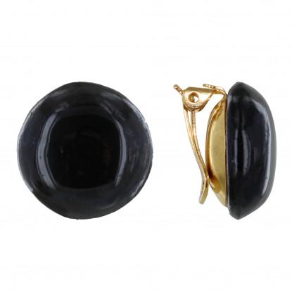 e9e8ac8c5aa Boucles d'Oreilles Clip Métal Doré Champignon Céramique