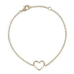 Bracelet Plaqué Or Coeur Ajouré